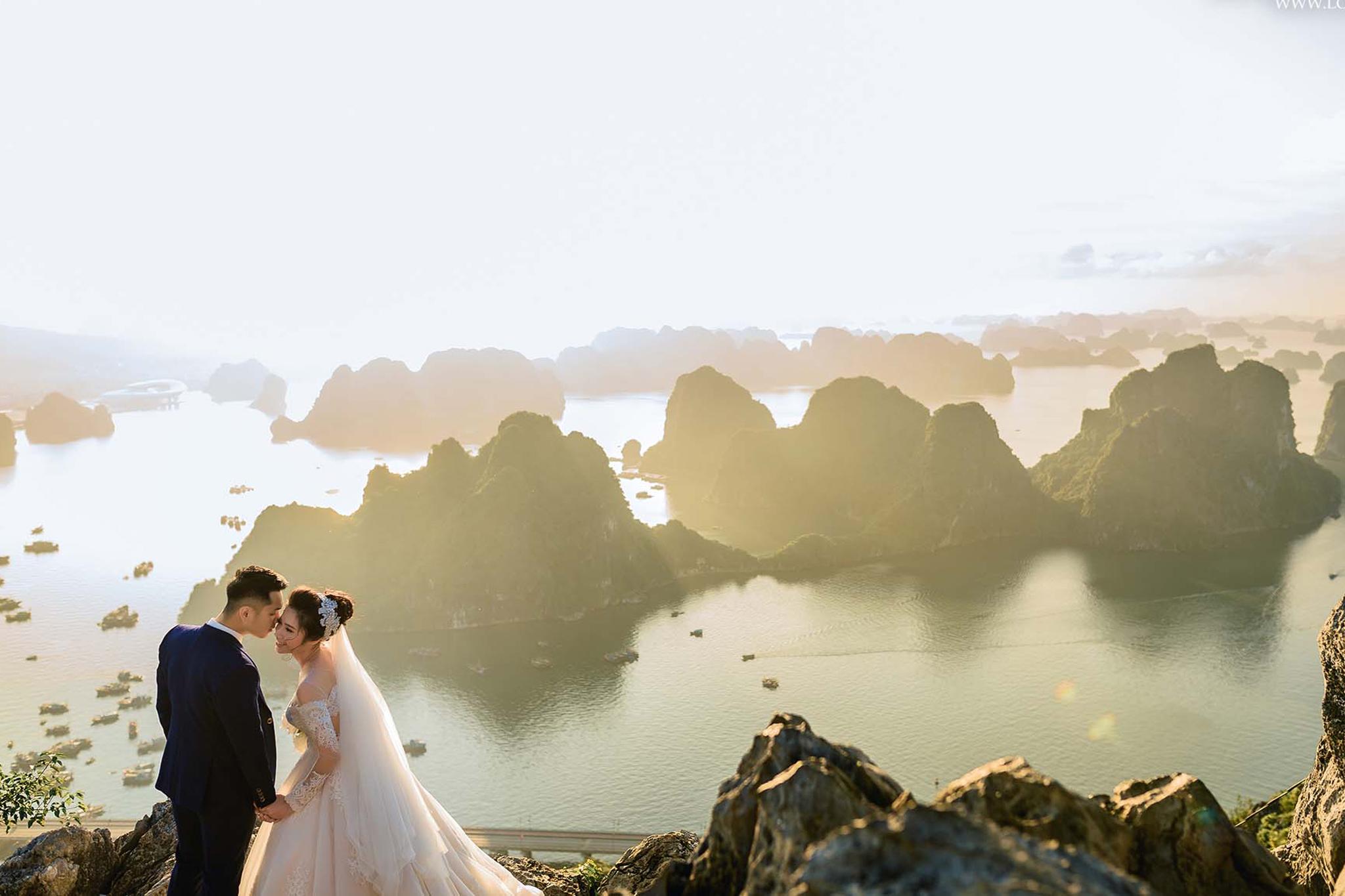 Chụp ảnh cưới tại Vịnh Hạ Long