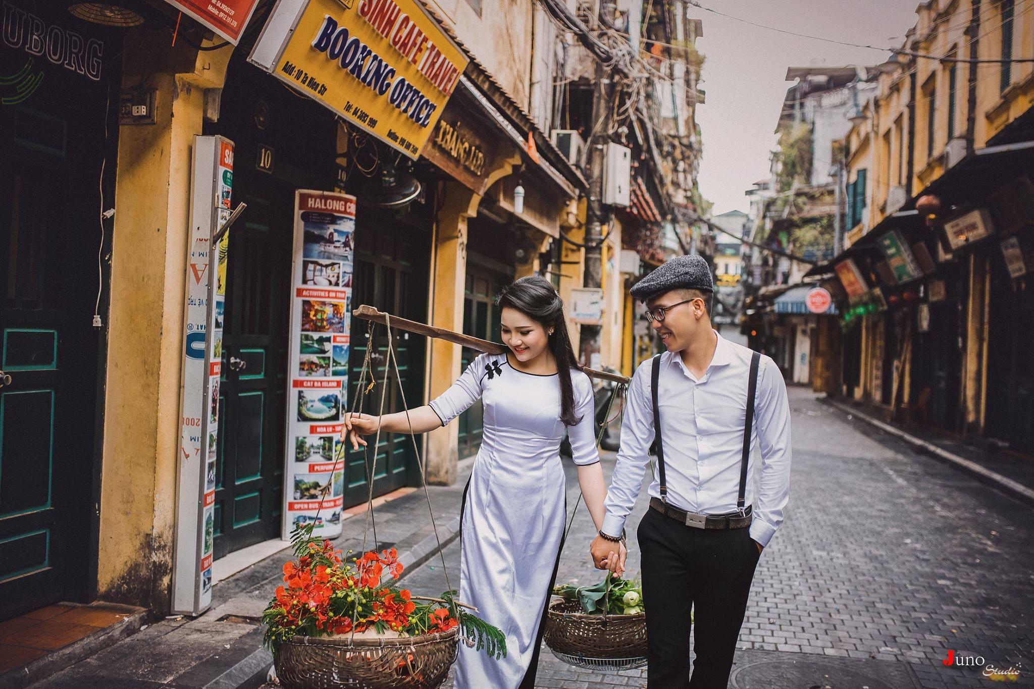 Chụp ảnh cưới đẹp tại Phố cổ Hà Nội