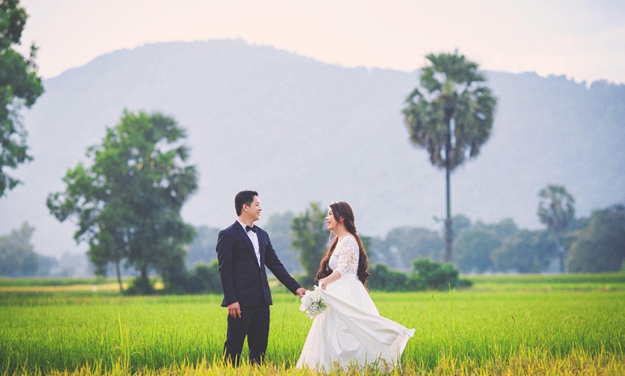 Chụp hình cưới tại cánh đồng lúa Tà Pạ