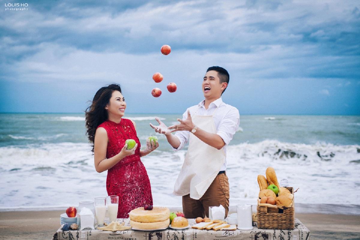 ý tưởng chụp ảnh cưới ở biển độc đáo