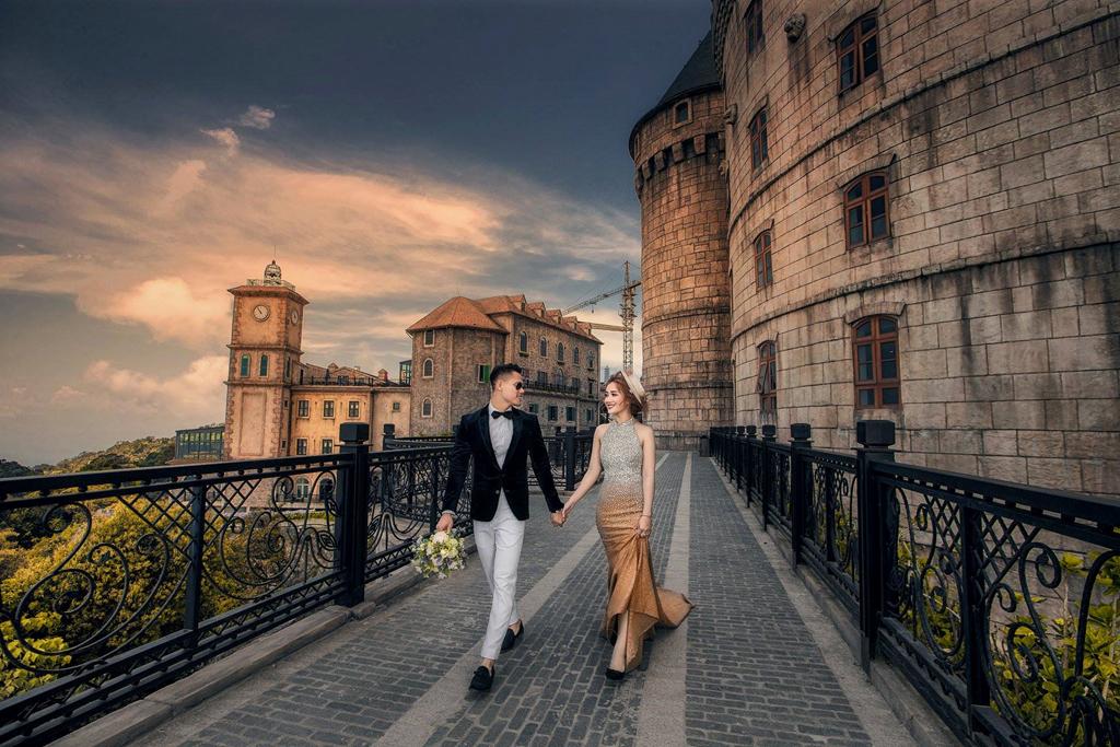 Chụp hình cưới đẹp tại Bà Nà hill Đà Nẵng