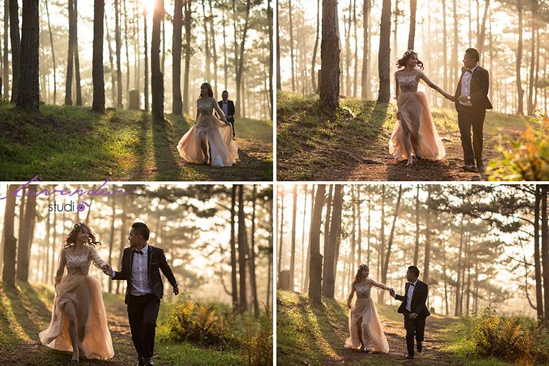 Studio chụp ảnh cưới trọn gói tại Đà Lạt
