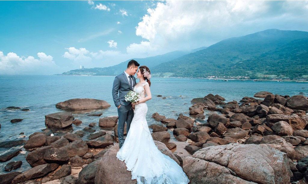hình cưới đẹp tại Bán Đảo Sơn Trà Đà Nẵng