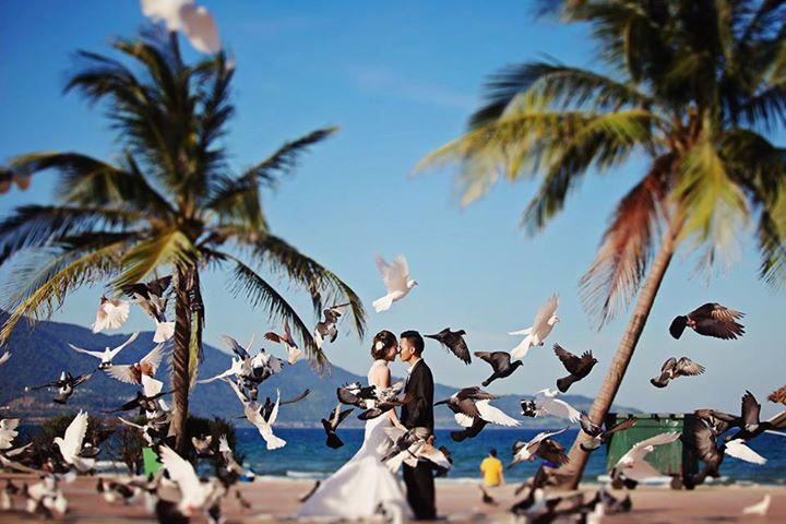 Chụp ảnh cưới đẹp ở Đà Nẵng tại Công viên Phạm Văn Đồng