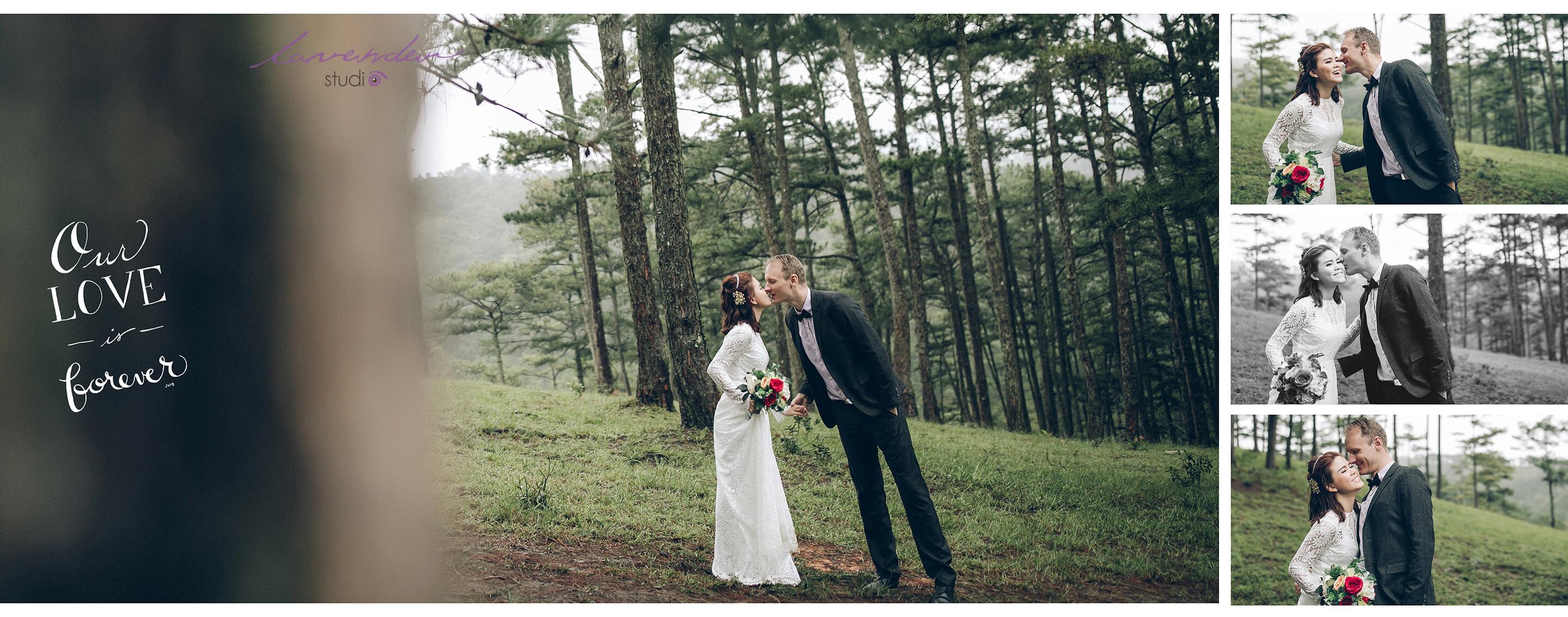 Trọn gói dịch vụ du lịch kết hợp chụp ảnh cưới Đà Lạt