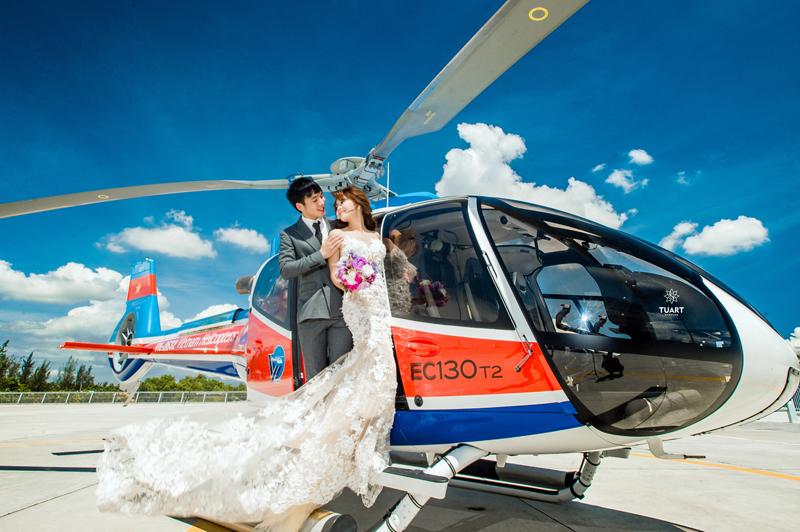 Du lịch kết hợp chụp hình cưới Hà Nội tại sân bay Gia Lâm