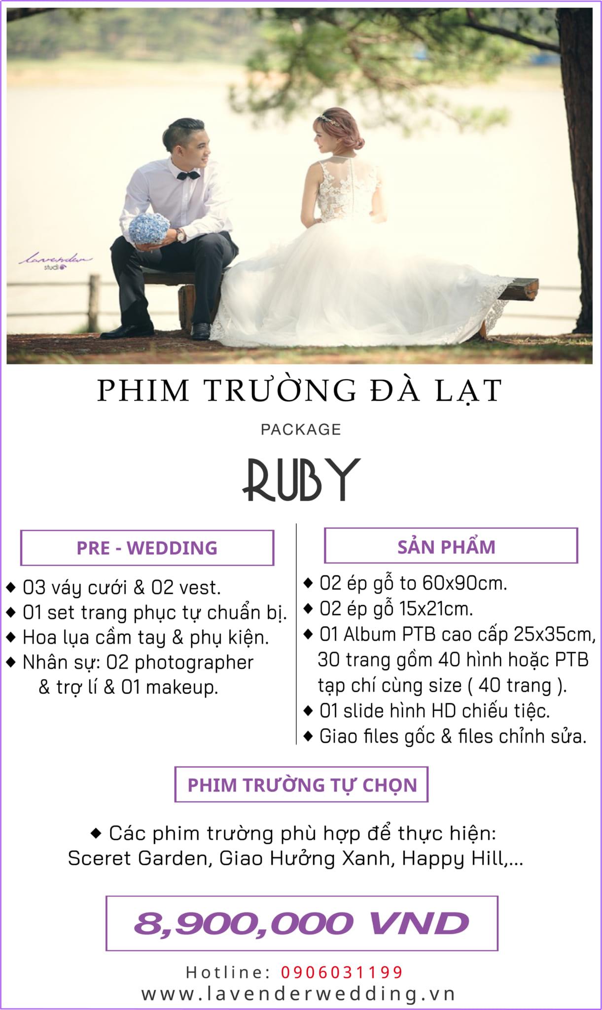 Bảng giá chụp hình cưới Đà Lạt