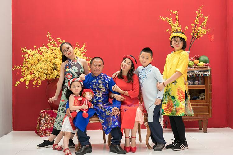 Trang phục chụp hình tết cho gia đình