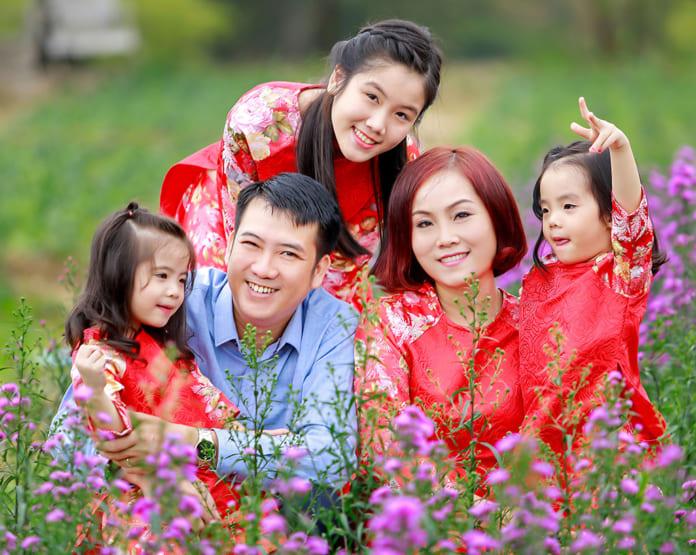 Hình tết gia đình đẹp