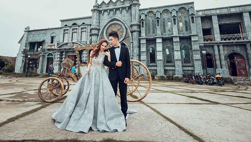 Phim trường chụp ảnh cưới đẹp ngất ngây