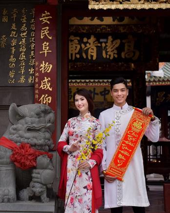chụp hình Tết chùa bà Thiên Hậu 2021