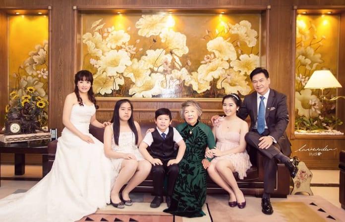 chụp hình gia đình lễ tết