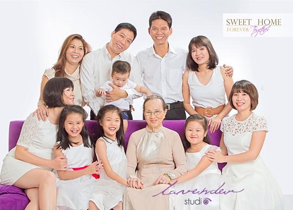 tiệm chụp hình gia đình tại Sài gòn